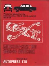 Mercedes Benz 190 B, 190 C, 200,W121 Ponton Autobooks Workshop Manual 1959-1968