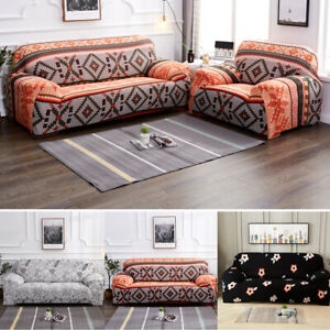 1-4Seater L Shape Sofa Slipcovers Elastic Stretch Couch Armchair Protector Cover