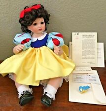 "Marie Osmond Fine Porcelain Baby SNOW WHITE ""Disney Babies"" 1998 with COA"