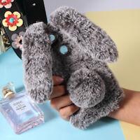 Rabbit Shape Fluffy Fur Coated Rhinestone TPU Case Cover for Xiaomi Mi A1 / 5X