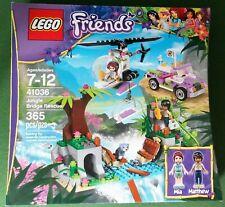 NEW & SEALED! Lego FRIENDS 41036 JUNGLE BRIDGE RESCUE Retired! Mia Mathew Frog
