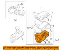 FORD OEM 15-16 Mustang 5.0L-V8 Air Cleaner Intake-Lower Tray FR3Z9A612A