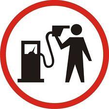Gasolina Logotipo De Cabeza Hombre con Surtidor De Gasolina a  cabeza