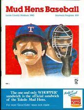 1980 Toledo Mud Hens Program Minnesota Twins AAA Affiliate