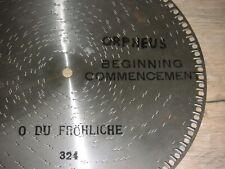 O du fröhliche Orpheus Platte 30,5cm Spieluhr Spieldose christmas music box disc