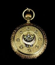 Beautiful 19th Century Waltham 18K Solid Yellow Gold Hunting Case Pocket Watch