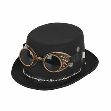 Steampunk Vintage Cogs Top Hat Black Goggles Gears Fancy Dress Costume Accessory
