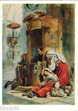1960 Soviet Russian postcard: AT CONFESSION by Karl Bryullov