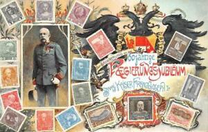 AUSTRIA FRANZ JOSEF STAMPS 60TH ANNIVERSARY JUBILEE POSTCARD (1908)