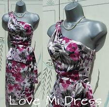 NEXT - One Shoulder Flower Print Peplum Dress 10 EU38