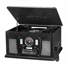 Victrola Nostalgic 8-in-1 USB Bluetooth Turntable and Record Player in Black New