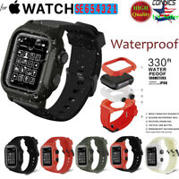 Watch Band Waterproof Silicone +Case For Apple iWatch Series SE 6 5 4 3 44/42MM