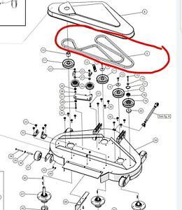 """COUNTAX Hexagonal deck belt C300 C400 C500 C600 H C38 C400H 38"""" cut IBS XRD"""