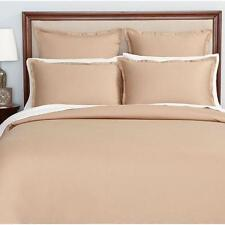 New Hudson Park Collection Tan Pima Cotton 500Tc One (1) Euro Pillow Sham $85