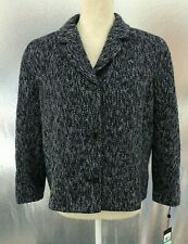 Tommy Hilfiger Womens Sz 16 Blazer Jacket Navy Blue Tweed...