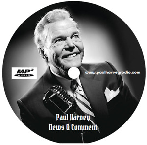 PAUL HARVEY - NEWS & COMMENT 'P-Z' (807 SHOWS) OLD TIME RADIO MP3 CD