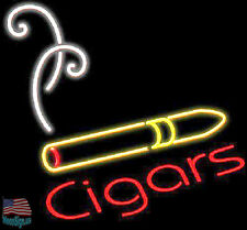 "Cigars Cigarette Beer Pub Bar Bar Neon Light Sign 17""x14"" From USA"