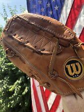 Vintage WILSON  THE A2002 XL USA DUAL HINGE LEFT HAND THROW BASEBALL GLOVE