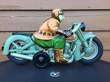 """Large 15"""" Tin Litho 1950s Harley Davidson Motorcycle Iy Metal Toys Yonezawa C9.5"""