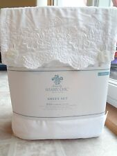 Simply Shabby Chic Embroidered Lace QUEEN Sheet Set (NIB) - Free Shipping