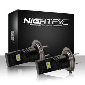 Nighteye H7 160W Auto LED Fog Light Bulbs Car Driving Lamp DRL 6500K Xenon White