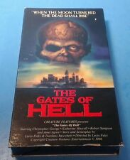 The Gates of Hell VHS RARE Horror Gore Terror Presented By Creature Features Vtg