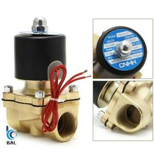 Solenoid Valve DC 12V Electric Valve Brass Normally Closed Air Solenoid New