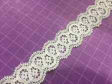 5 yards of 1 inch Ivory Chantilly Lace Trim - 5MM