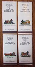RED CABOOSE RESTAURANT & MOTEL SET OF 4 (1960s) -AU27