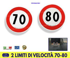 Adesivi limite di velocità posteriori 70 80 Camion Autocarri Autoveicoli Disco 2