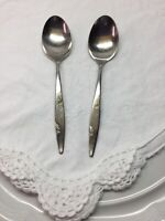 Oneida Rose Duet 2 Tablespoons Stainless Flatware Mid Century Modern