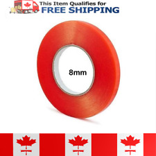 8mm x 25m Double Sided Red Adhesive Tape with a transparent polyester film