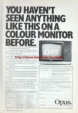 "Opus JVC Colour Monitor ""Vintage Hardware"" 1983 Magazine Advert #5040"