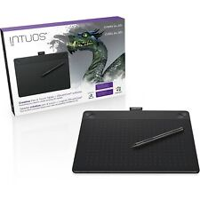 Wacom Intuos Wireless 3D Art Pen and Medium Touch Drawing Tablet Board Black