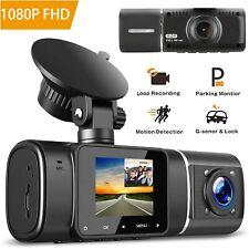 1080P Dual Lens GPS Camera HD Car DVR Dash Cam Video Recorder w/ Night Vision