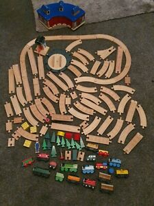 Huge Bundle Wooden Train Track Brio With Trains And Accessories