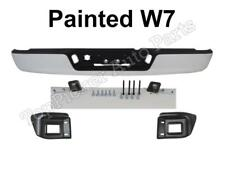 Painted Bright White W7 Rear Bumper Assy For 02-08 Ram 1500/ 03-09 Ram 2500 3500