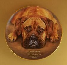 Cherished Boxers HEART OF GOLD Plate Dog Puppy Danbury Mint Boxer Charming!