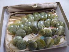 "Connemara NATURAL  GREEN STONE  COLOR BEAUTIFUL NECKLACE  18"" ADJUSTABLE"