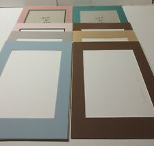 Eight 12 X 16 Mats With 9 Opening Mat Board Backing