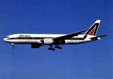 Alitalia, Boeing b777-243, cartolina
