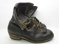 WESCO Boots Men's Size 10/11 D Work Safety Logger Black Leather #B2359