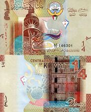 KUWAIT 1/4 Dinar Banknote World Paper Money UNC Currency Pick p-29 Bill Note