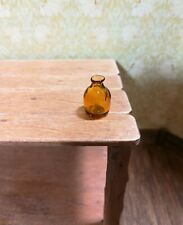 "Dollhouse Miniature Amber Bottle Jar Vase Tiny 1/2"" 1:12 Scale"