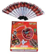12 Cherry Golecha Red Color Henna  Cone Temporary Tattoo Body Art Kit