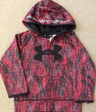 Under Armour Hoodie 24 M Sweatshirt Fleece Zip Camo NWT Boys Jacket Red $41 FREE