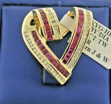 14k Yellow Gold 2.00 Ct Diamond Heart Pendant