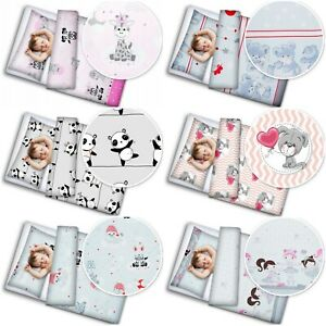 4pc bedding set cotton pillow and duvet fit kids junior bed soft 150x120cm