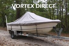"""NEW VORTEX GREY 19'6"""" CENTER CONSOLE BOAT COVER, FOR UP TO 54"""" TALL CONSOLE"""