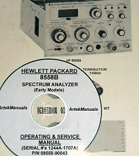 HP  8558B OPS & SERVICE MANUAL (EARLY SERIAL #'S)